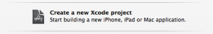 Create a New Xcode Project Menu Item in Xcode 5