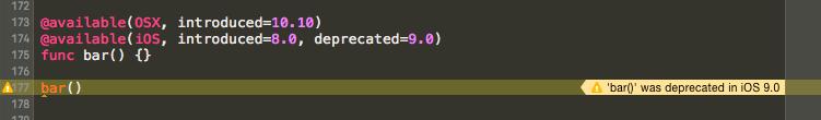 Annotating a Swift API as deprecated